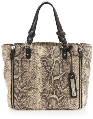 Band Of Outsiders Genevieve Python-print Tote, Natural
