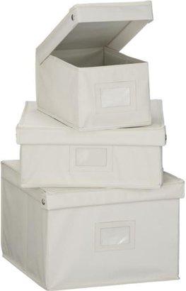 Crate & Barrel Snap Storage Boxes