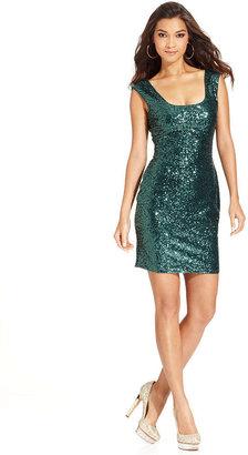 GUESS Dress, Sleeveless Sequin Sheath