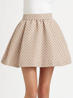 RED Valentino Polka Dots Faille Skirt