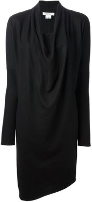Helmut Lang cowl neck dress