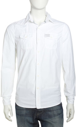 Superdry Long-Sleeve Chest-Pocket Shirt, Optic