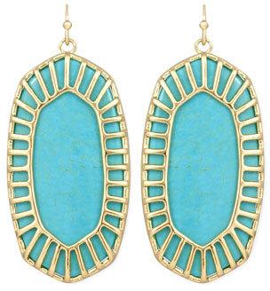 Kendra Scott Delilah Large Drop Earrings, Turquoise