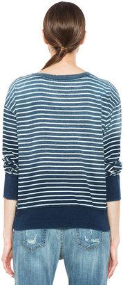 Current/Elliott The Stadium Sweatshirt in Indigo Sweatshirt