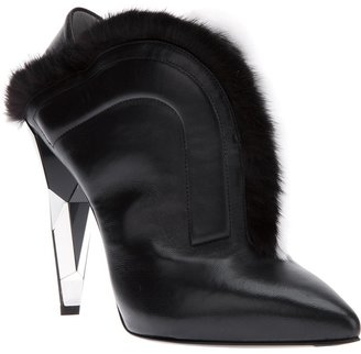 Fendi fur trim boot