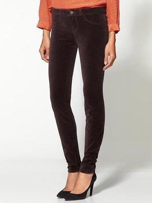 J Brand Midrise Super Skinny Velvet Pants