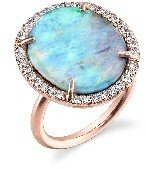 Irene Neuwirth Oval Boulder Opal Ring with Diamonds - Rose Gold