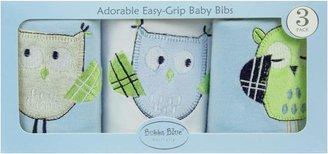 Bubba Blue Baby Owl Bib Gift Box, Blue (Set of 3)