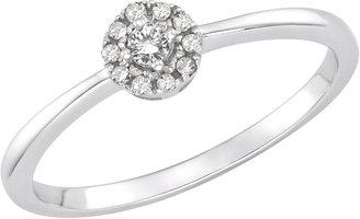 Ice.com 1/10 Carat Diamond 10K White Gold Promise Ring