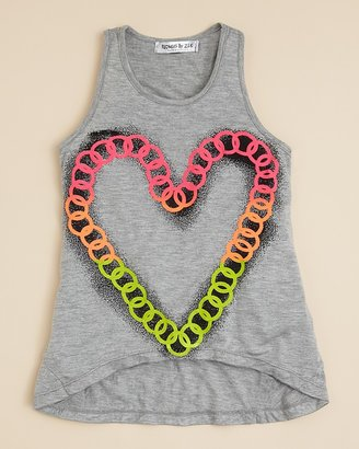 Flowers by Zoe Toddler Girls' Heart Chain Tank Top - Sizes 2T-4T