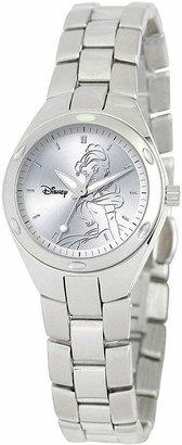 DISNEY PRINCESS Disney Fortaleza Belle Womens Silver-Tone Watch