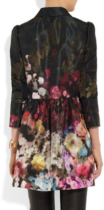 RED Valentino Floral-print lightweight faille swing coat