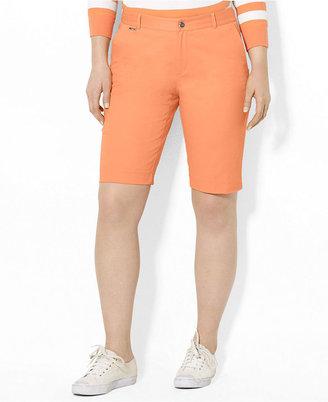Lauren Ralph Lauren Plus Size Shorts, Slim-Fit Bermuda Colored