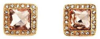 Charlotte Russe Gemstone Square Stud Earrings