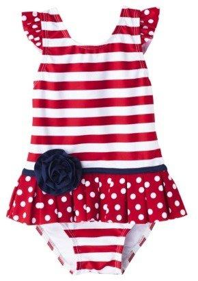 Circo Infant Toddler Girls' Stripe 1-Piece Swimsuit