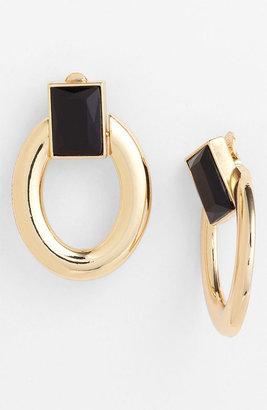 Anne Klein 'Divalia' Door Knocker Clip Earrings