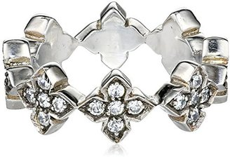"King Baby ""Cross"" MB Cross Band with White Cubic Zirconia Stones, Size 7.5 $279.99 thestylecure.com"