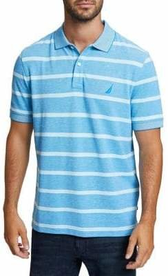 Nautica Striped Classic-Fit Cotton Oxford Polo