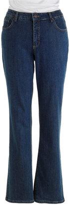 Jones New York Signature WOMENS Plus Lexington Straight-Leg Jeans