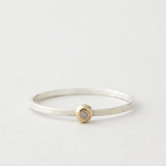 In God We Trust dot ring with diamond