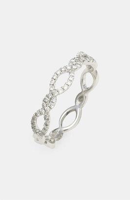 Nordstrom Women's Bony Levy Stackable Weave Diamond Ring Exclusive)