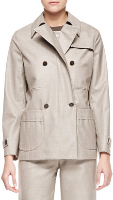 Giorgio Armani Micro Pied de Poule Short Coat