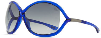 Tom Ford Whitney Bold Sunglasses, Deep Blue