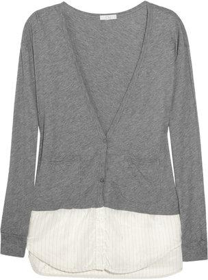 Clu Shirt-detail cotton cardigan
