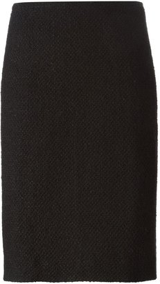 Chanel Pre-Owned bouclé pencil skirt