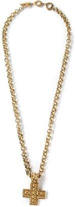 Yves Saint Laurent Vintage cross pendant necklace
