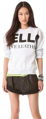 Love leather Logo Fleece Sweatshirt