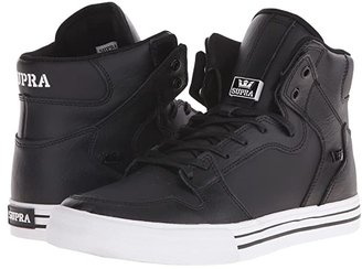 Supra Vaider (Black/White/Leather) Skate Shoes
