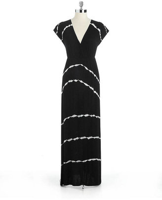 WD.NY Tie Dye Striped Maxi Dress