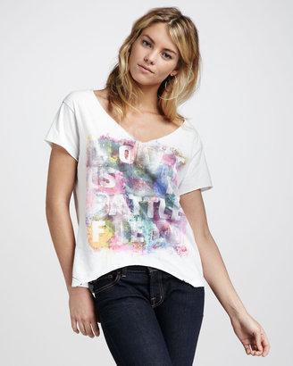 Chaser Frayed Graphic Tee