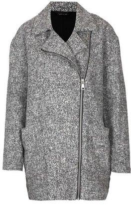 Topshop 'Jeanie' Textured Front Zip Coat