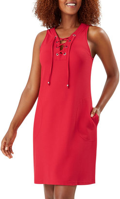 Tommy Bahama Sleeveless Lace-Up Spa Dress