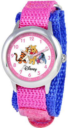 Character Disney Winnie the Pooh Kids Nylon Strap Easy-Read Watch