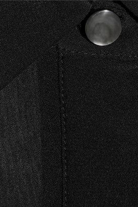 Alexander Wang Chiffon-paneled silk crepe de chine playsuit