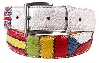 Manieri Flags Patchwork Leather Belt