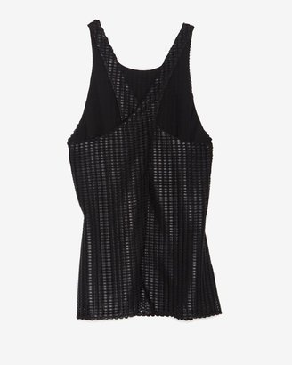 Intermix Exclusive For Textured Mesh Open Back Top