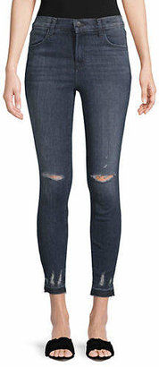 J Brand High-Rise Cropped Skinny Jeans