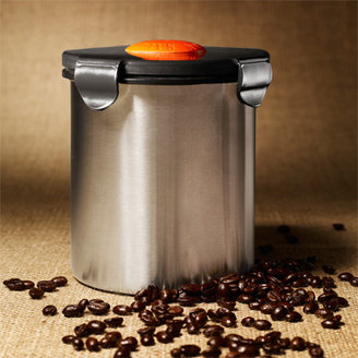 Bed Bath & Beyond BeanSafe Coffee Canister - Stainless Steel/Black