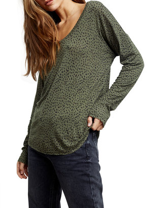Rails Colby Animal-Print Slouchy Tee