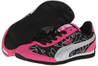 Puma Kids - Whirlwind Swirl Jr (Little Kid/Big Kid) (Fluorescent Pink Silver) - Footwear
