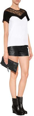 Zadig & Voltaire Leather Rock Matelasse Clutch in Black