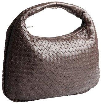 Bottega Veneta ebony intrecciato leather 'Veneta Effiloche' hobo