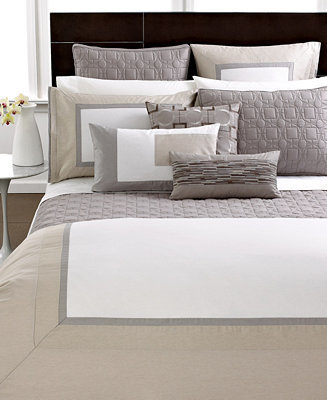 Hotel Collection CLOSEOUT! Modern Block Full/Queen Duvet Cover