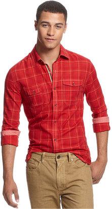 Sean John Shirt, Long Sleeve Tonal Check Shirt