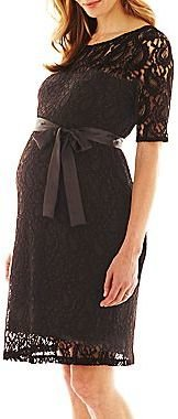 JCPenney Maternity Belted Lace Dress