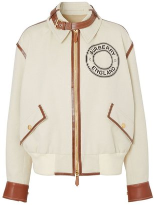 Burberry Logo Graphic Cotton Canvas And Lambskin Blouson